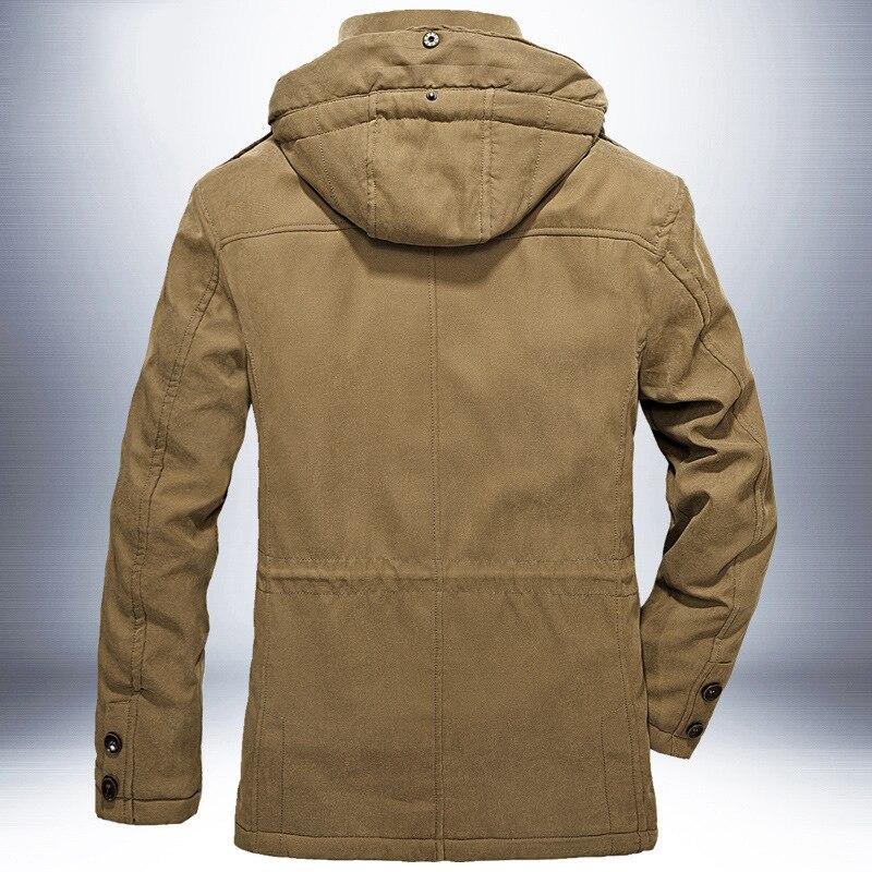 Брендовая зимняя куртка, Мужская Толстая теплая ветровка, мужские парки, высокое качество, кашемировая подкладка, съемная, 2 в 1, пальто размера плюс L 4XL - 4