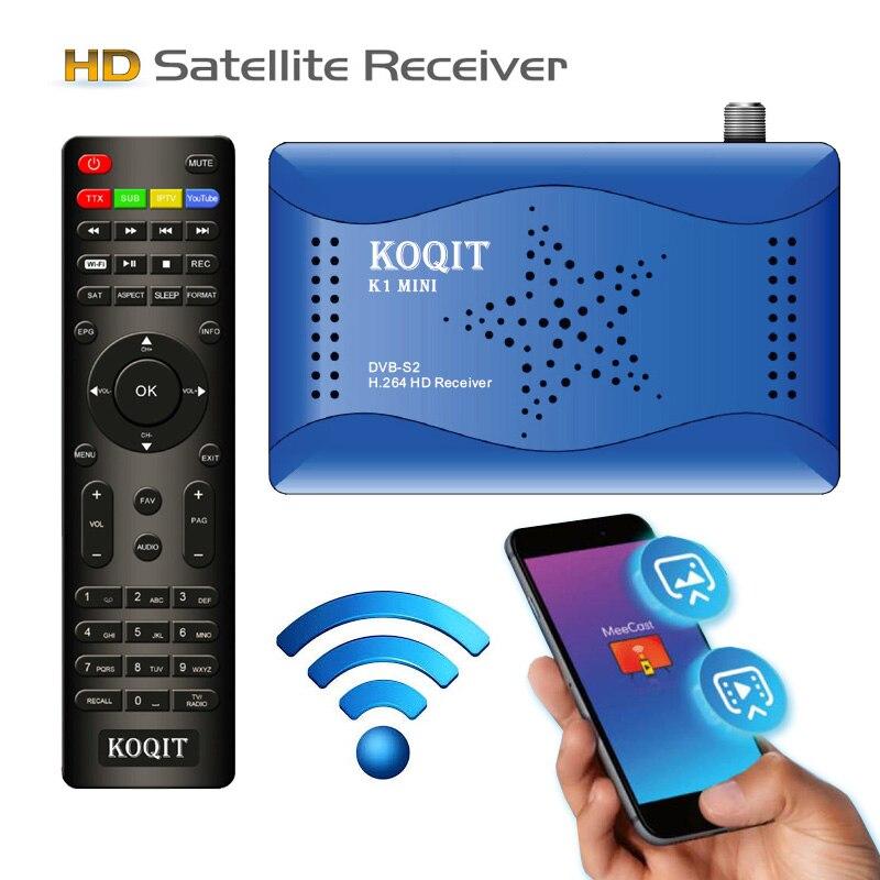 Зеркальный экран Meecast, приемник DVB S2, спутниковый приемник, HD декодер, бесплатный спутниковый ТВ-приемник, Wifi, удаленный Youtube