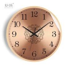 Скандинавская декорация настенные часы Ретро розовое золото