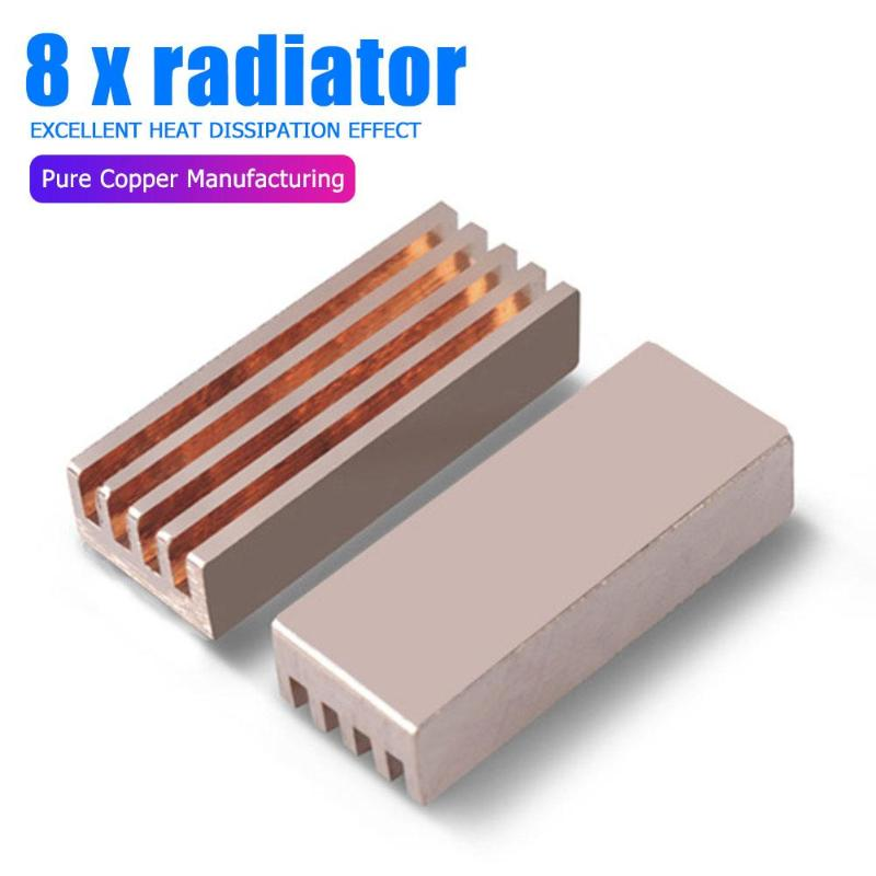 8PCS Copper Cooler Heatsink Radiator Heat Sink for Motherboard Laptop