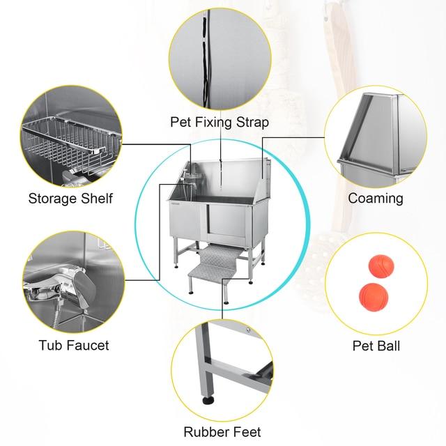 Stainless Steel VEVOR 50 Inch Dog Washing Bath Station  2