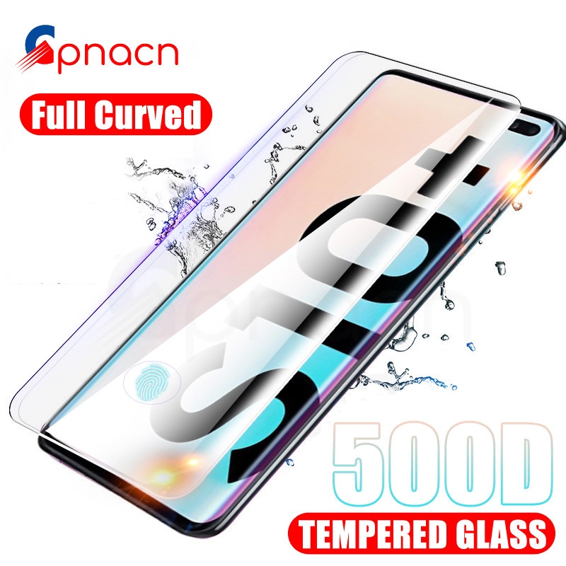 500D Curved Protective Glass For Samsung Galaxy S10 S9 S8 Plus Screen Protector For S10e S7 Edge A6 A8 Plus 2018 Tempered Glass
