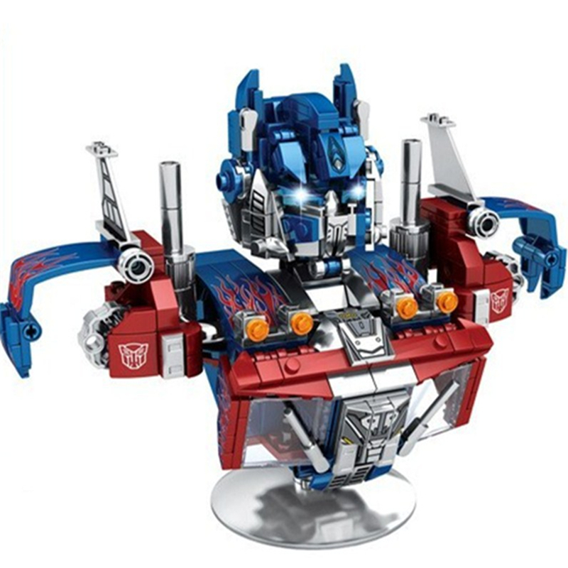 2020 Transformation Ideas Serier Optimus Convoy Prime Warrior Bust Super Hero Building Blocks Sets Bricks Kids Toys Movie 2