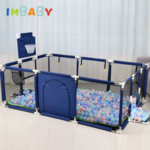 IMBABY Kids Furniture Playpen for Children Dry Ball Pool Swimming Pool Safety Barriers Babys Playground Ball Park for 0-6 Years