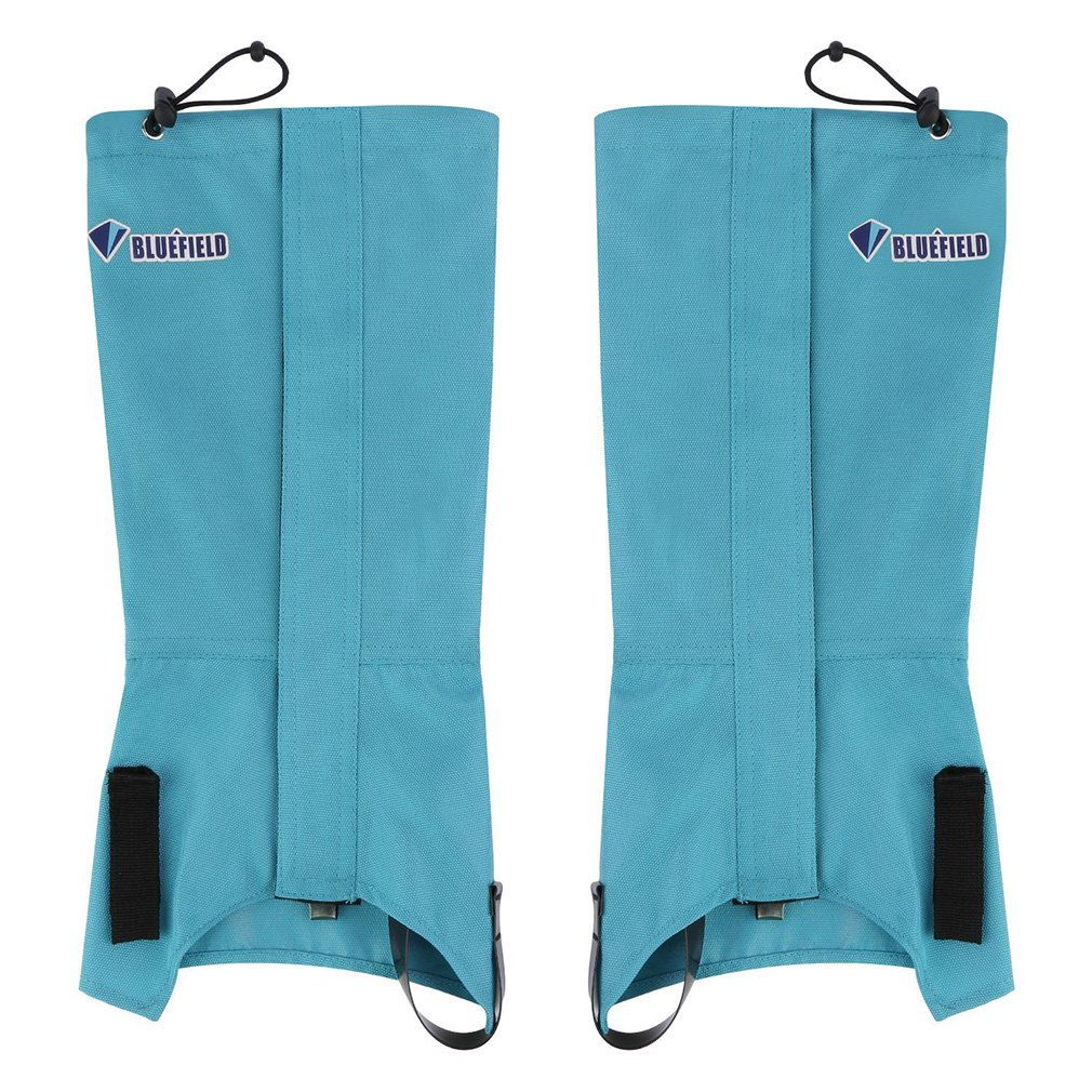 1 Pair Bluefiled Waterproof Outdoor Hiking Walking Climbing Hunting Snow Legging Gaiters Winter Leg Protect Equipment