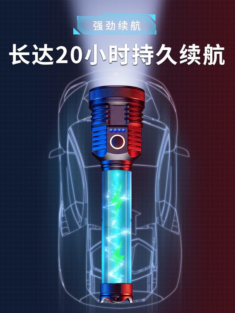 mais poderosa luz recarregavel lanterna garagem poderosa 01