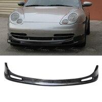 Front Lip For Porsche 996 911 Carrera 1999 2001 Real Carbon Fiber Bumper Spoiler Splitters