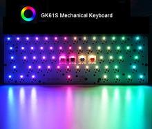 GK61S Hot swap Mechanical Keyboard Bluetooth RGB Backlit Tyce C Plastic Case Plate PCBA Stabs Full Keyboard DIY