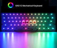 GK61S Hot swap mekanik klavye Bluetooth RGB arkadan aydınlatmalı Tyce C plastik kasa plakası PCBA Stabs tam klavye DIY