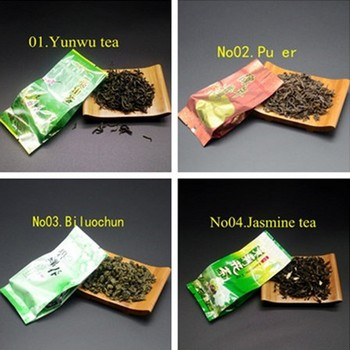 16 Different Flavors Chinese Tea Includes Milk Oolong Pu-erh Herbal Flower Black Green Tea Each tea Two Bags 2