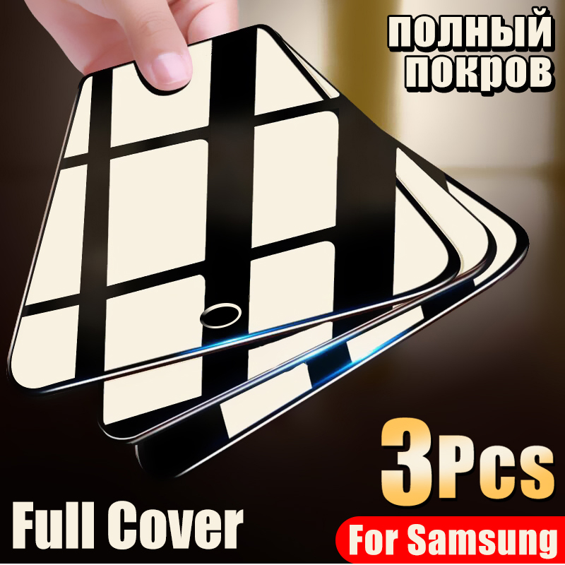 3Pcs Protective Glass On For Samsung Galaxy A10 A20 A30 A40 A50 A60 A70 A80 A90 Tempered Glass On M10 M20 M30 Screen Protector