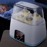 6 em 1 atualizado controle remoto termostato inteligente automático garrafa de bebê aquecedores desinfecção leite quente rápido & esterilizadores