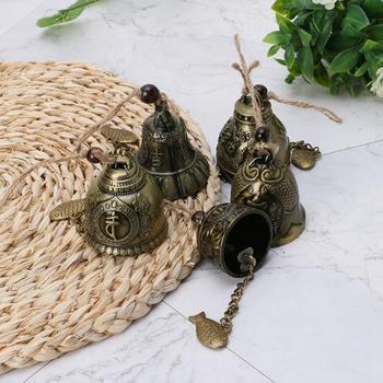 Metalowe dzwonki wiatrowe dzwonki chiński Fengshui Lucky wiszący Ornament smok budda Phoenix Windchimes dla domu ogród dekoracja na zewnątrz tanie i dobre opinie CN (pochodzenie) Zwierząt FENG SHUI Wind Chime Bell Retro Garden Windchime Home Garden Outdoor Decor Chinese Fengshui Ornament