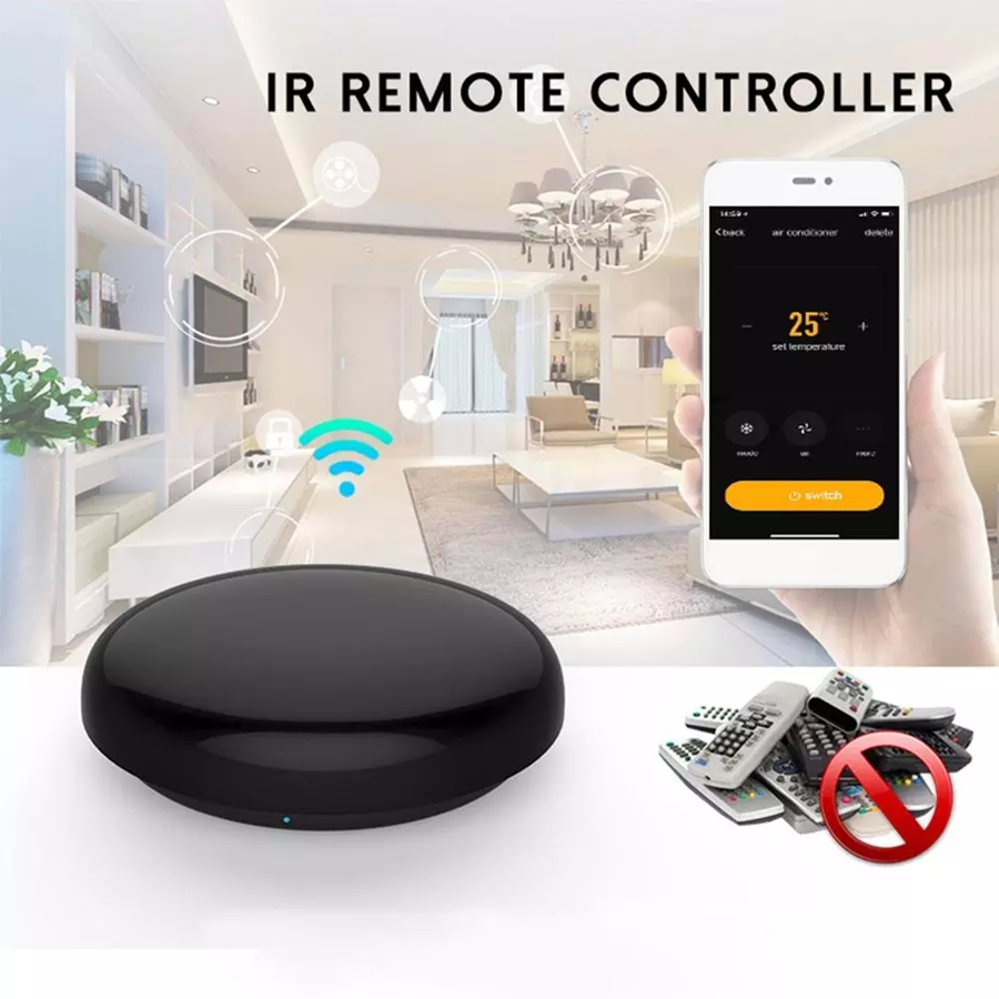 Universal inteligente wifi ir controle remoto infravermelho casa controle adaptador suporte alexa google assistente de voz dispositivos casa inteligente