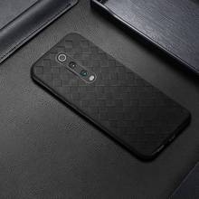 For Xiaomi Mi 9T Case Cover Woven Leather Design Coque Funda