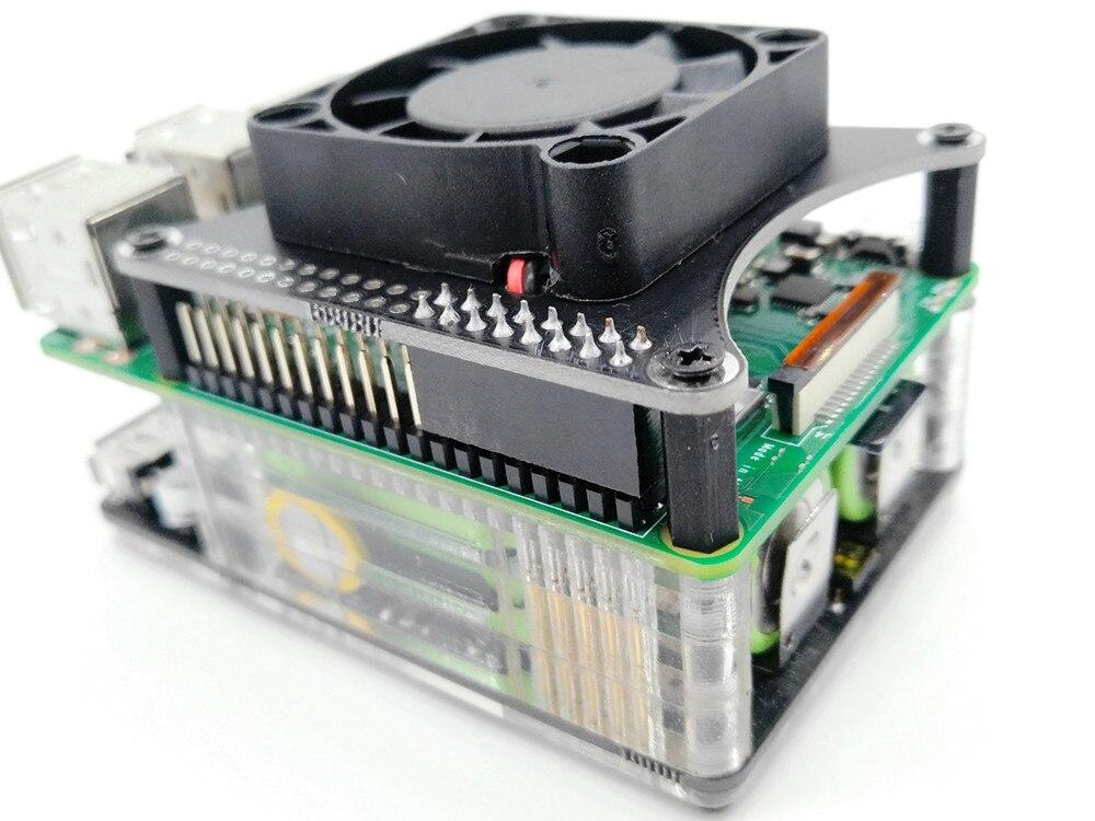 New Raspberry Pi 4 Model B 2G 4G 3400mAh 18650 UPS Power Extension Board Fan HAT For Raspberry Pi