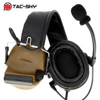 outdoor sports TAC-SKY COMTAC II silicone earmuffs version outdoor hunting sports hearing defense noise reduction pickup tactical headset CB (3)