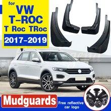 Set For Volkswagen VW T-ROC T Roc TRoc 2017 2018 2019 Car Mudguards Mud Flap Flaps Splash Guards Fender Mudflaps Car Accessories