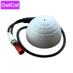 OwlCat MICROPHONE Audio Sound Pick up MIC for Surveillance Security CCTV IP Camera AHD DVR System