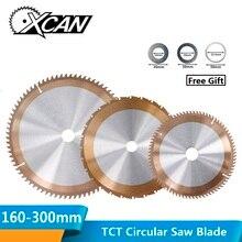 XCAN 1 шт. 160/165/185/210/255/300 мм деревообрабатывающий пильный диск с 24/80 зубы TICN покрытием TCT пильный диск циркулярной пилы для резки дисков