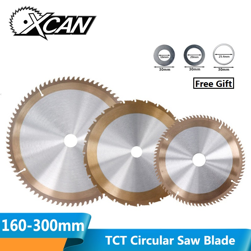XCAN 1pc 160/165/185/210/255/300mm Woodworking Saw Blade With 24/80 Teeth TICN Coated TCT Saw Blade Circular Saw Cutting Discs