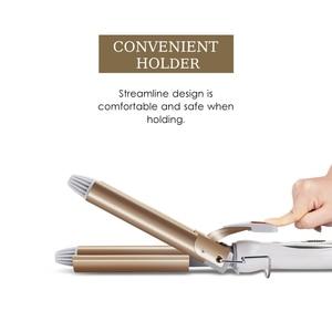 Professional Hair Tools Curling Iron Ceramic Triple Barrel Hair Styler Hair Waver Styling Tools Hair Curlers Electric Curling