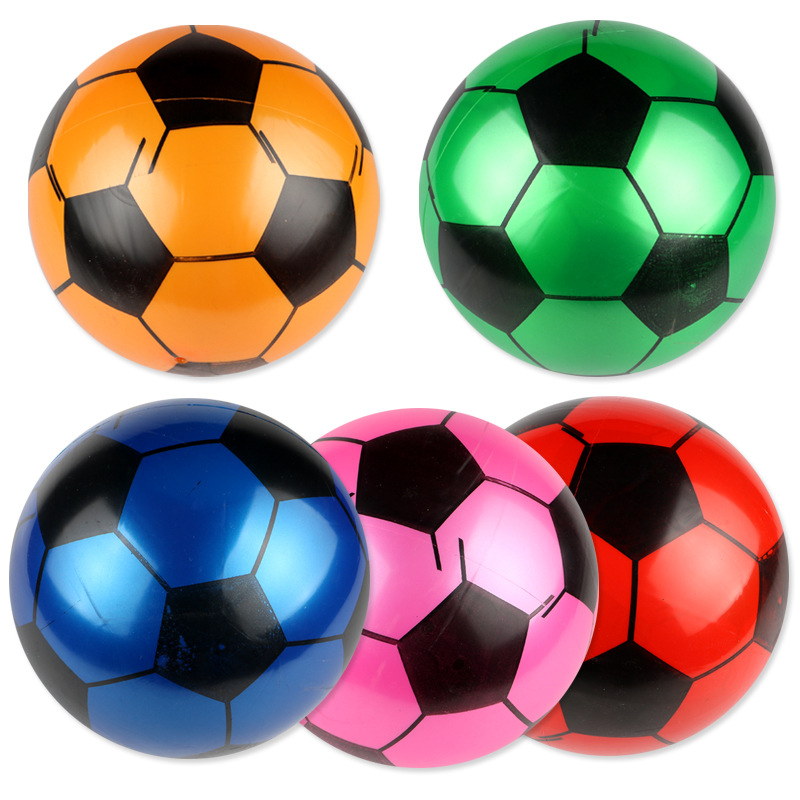22cm Pvc Football Children Inflatable Toy Ball Kindergarten Pat Football  Football Training Equipment Random Colour
