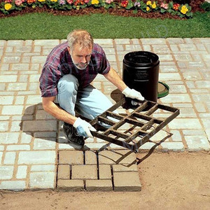 Garden Building Paving Mold Gardening Grids Pathmate Stone Mold Paving Concrete Stepping Pavement Paver #R15(China)