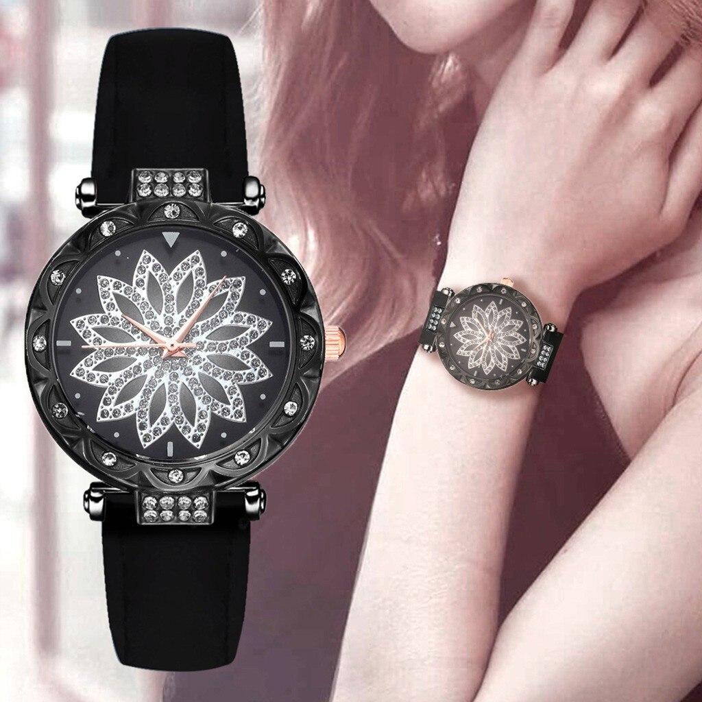 DUOBLA Luxury Women Watches Fashion Quartz Wristwatches Watch Women Leather Strap Brand Ladies Round Casual Student Watch
