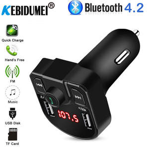 2-Phone Fm-Modulator Mp3-Player Car-Charger Connect Fm-Transmitter Handsfree USB Bluetooth