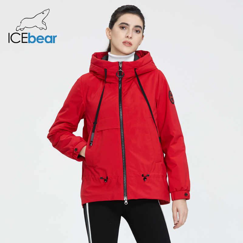 سترة نسائي من ICEbear لعام 2020 بقلنسوة جاكيت نسائي غير رسمي أنيق ملابس ربيع نسائية ملابس أصلية GWC2023D