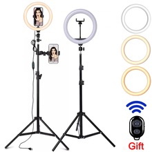 Led Selfie Bluetooth remote Ring Light Lamp Photography Lighting Phone Ring Light Tripod Stand Photo For Tiktok Youtube Live