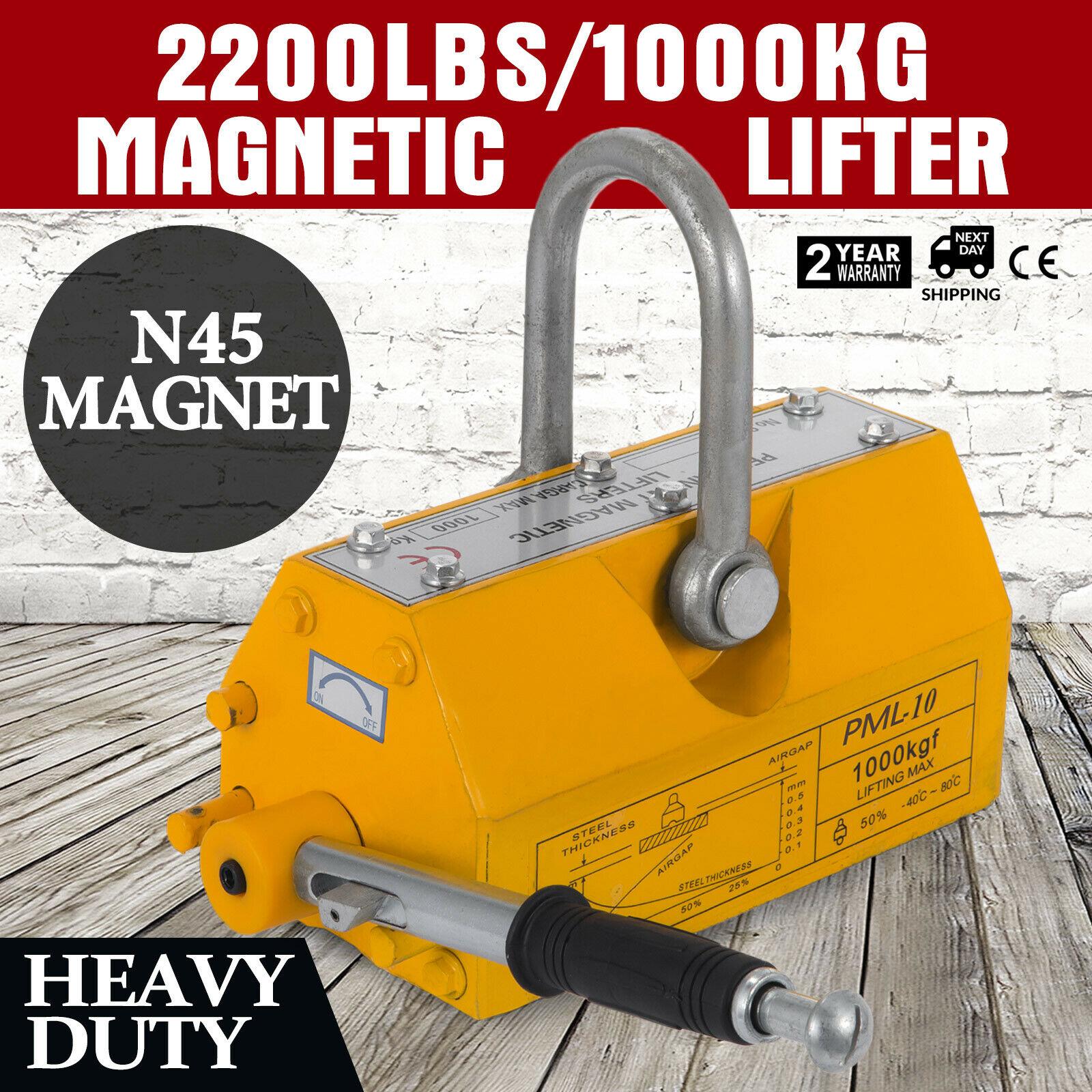 Ev Aletleri'ten Ultrasonik Temizleyici Parçaları'de 1000 KG ağır dayanıklı vinç çelik manyetik kaldırma kaldırma mıknatısı 2200lb title=