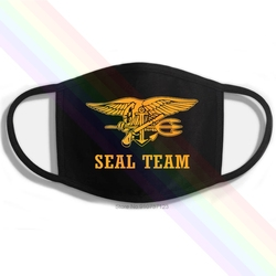 A equipe do selo da marinha dos eua o único dia fácil foi ontem impressão lavável respirável máscara de boca de algodão reutilizável