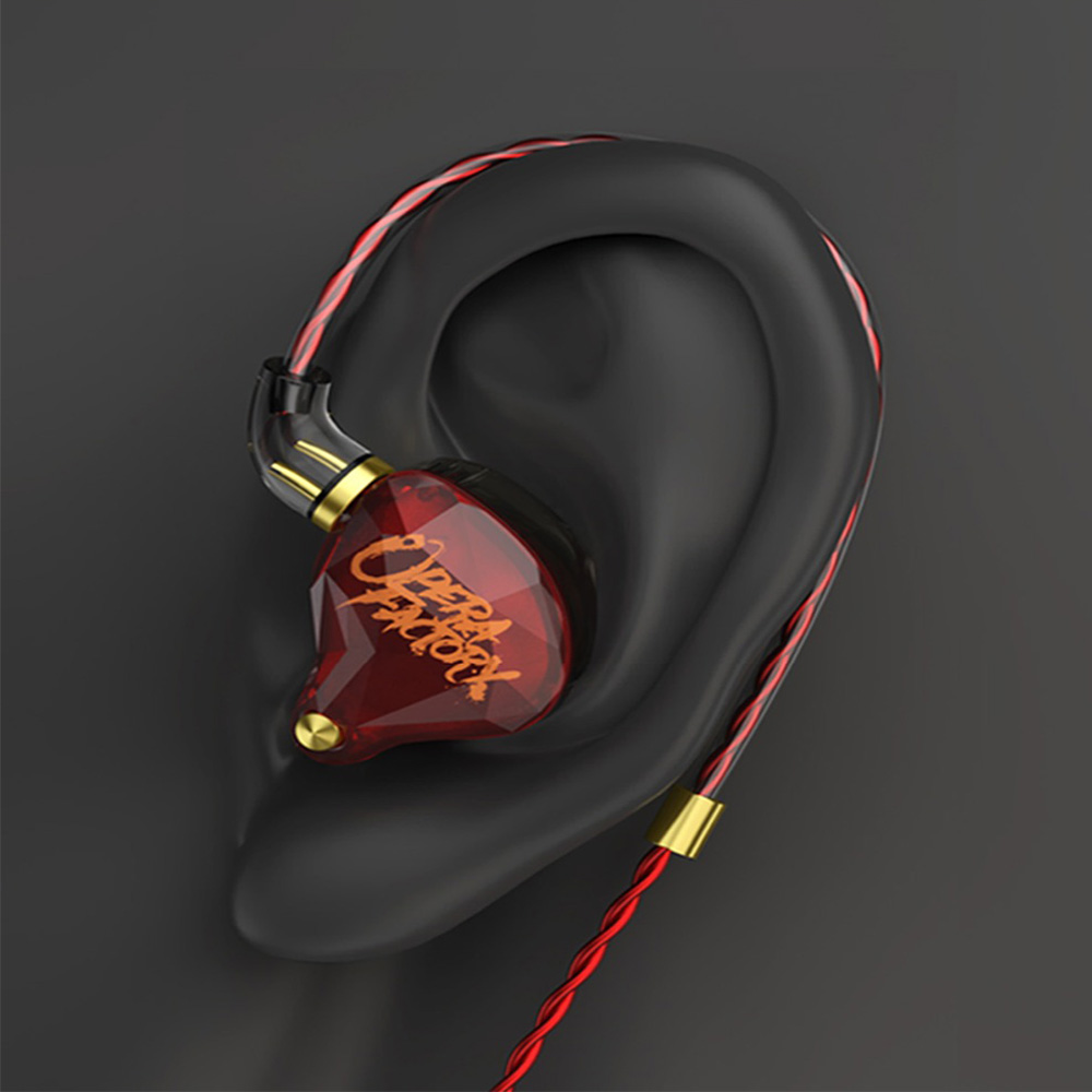 Image 5 - Opera Factory OM1 OF Audio Diamond Bass DJ Super Earphone Headset Earplug 2Pin HIFI Custom 3.5mm In Ear Earphone Dynamic Drive-in Earphones from Consumer Electronics