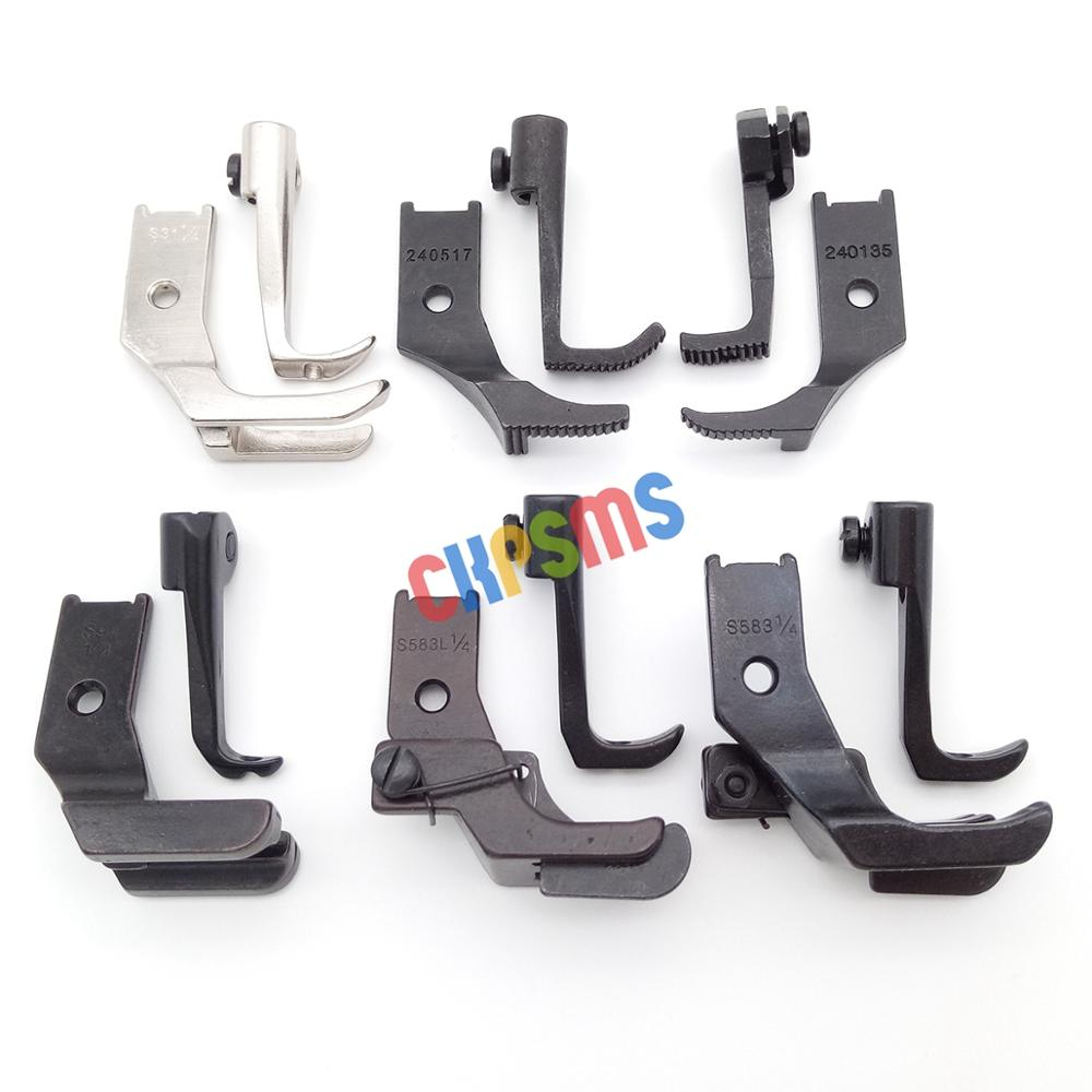 6SET #KP-WF6-2 Walking Presser Feet Fit For JUKI CONSEW SINGER BROTHER WALKING FOOT INDUSTRIAL SEWING MACHINE