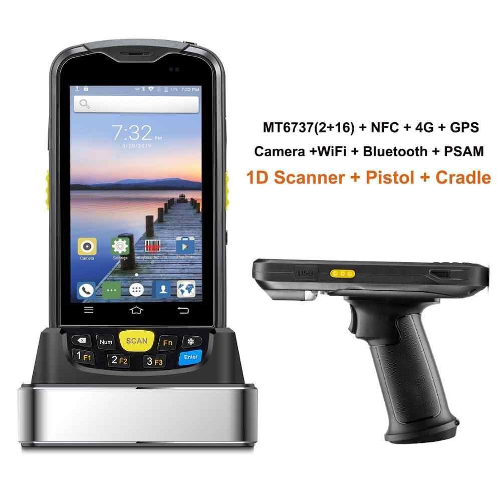 Сборщик данных Android терминал прочный PDA 1D 2D штрих-код беспроводной сканер 4G WiFi Bluetooth gps NFC склад сбора данных
