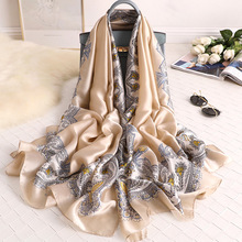 Autumn Luxury Brand Women Scarf Floral Print Ladies Shawls Rayon Hijab Ponchos Capes Bufandas Invierno Mujer Scarves