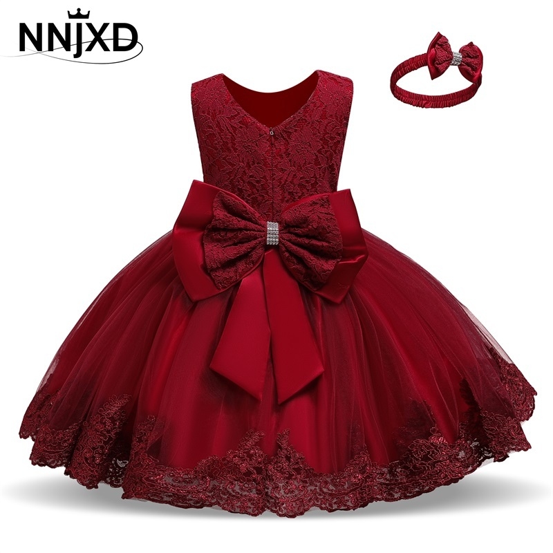 Kids Dress for Girls Summer Dresses for Party and Wedding Christmas Clothing Princess Flower Tutu Dress Children Prom Ball Gown 1