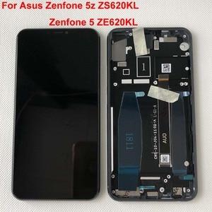 "Image 4 - Original For 6.2"" Asus Zenfone 5 2018 Gamme ZE620KL LCD Display Screen+Touch Panel Digitizer For Zenfone 5Z ZS620KL X00QD +Frame"