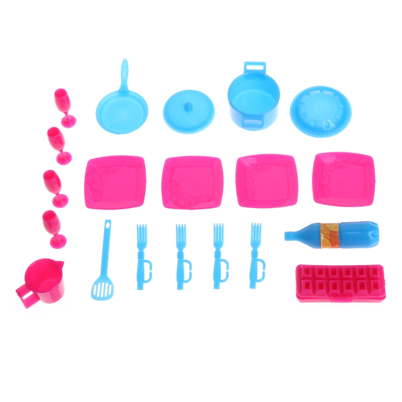 Mini Simulation Pots And Pans Dishes Tableware Kitchen  For Barbie Doll  Y4QA
