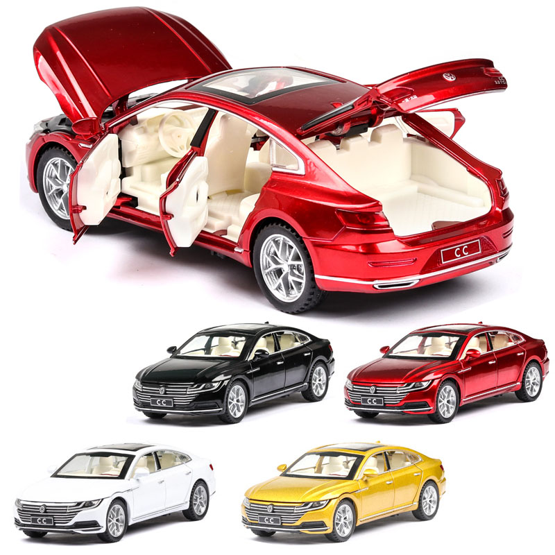 132 volkswagen-cc arteon modelo de carro liga carro de brinquedo fundido modelo de carro puxar para trás brinquedo das crianças collectibles frete grátis