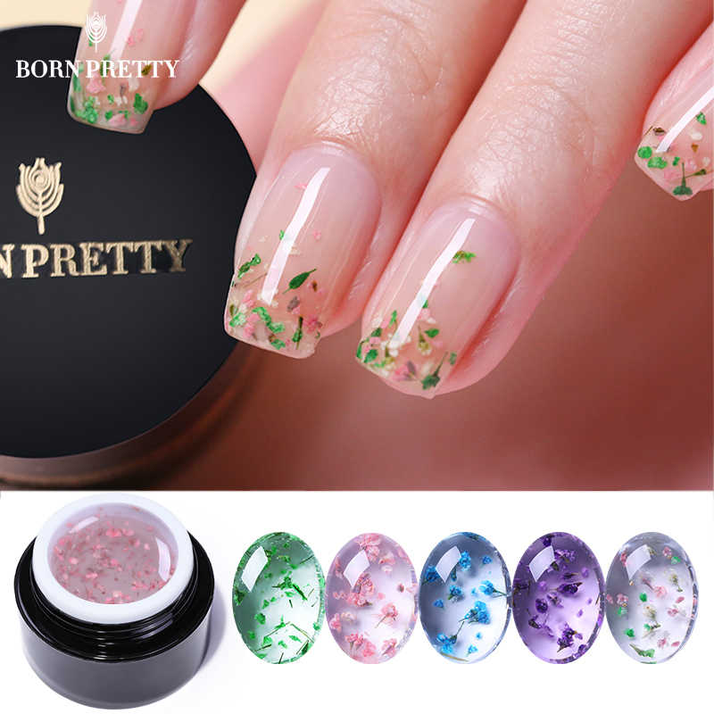Born Pretty Flower Fairy Uv Gel Nail Polish 5ml Colorful Pink Green Semi Transparent Soak Off Nail Art Gel Varnish Design Spring Nail Gel Aliexpress