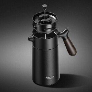 Image 2 - สูญญากาศ 950mlสแตนเลส 304 สแตนเลสมือกดกาแฟฉนวนกาต้มน้ำพร้อมที่จับธุรกิจกาแฟหม้อกรอง