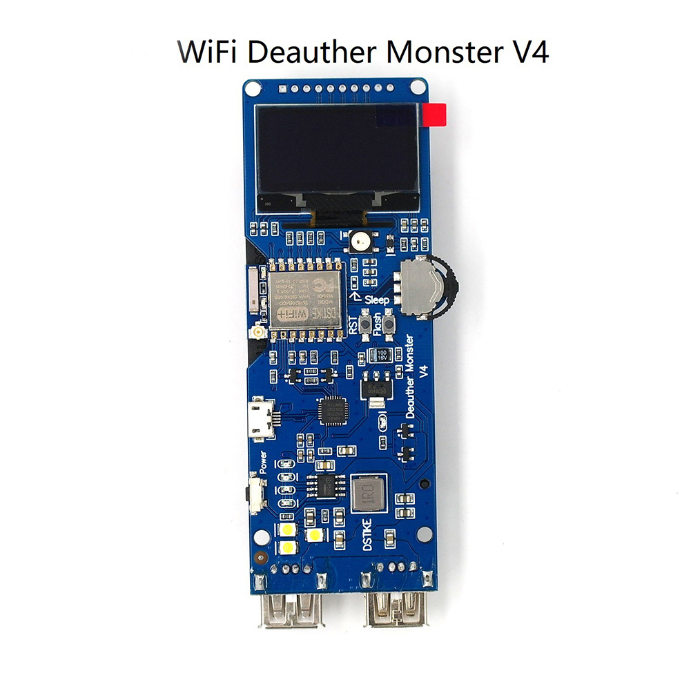 DSTIKE Deauther Monster V4 Electronic Integrated Charging Tool Rechargeable Battery Durable Network Development Board Home WIFI