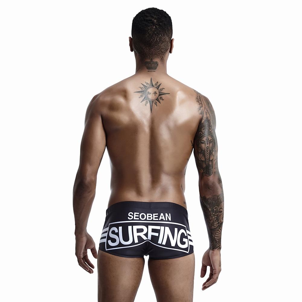 SEOBEAN Seobean Summer Men New Style AussieBum Low-Rise Trunks Sexy Stripes