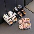 Весенне-Осенняя обувь для маленьких девочек; дышащая Нескользящая детская обувь принцессы; детская обувь; кожаная обувь для малышей; кожана...