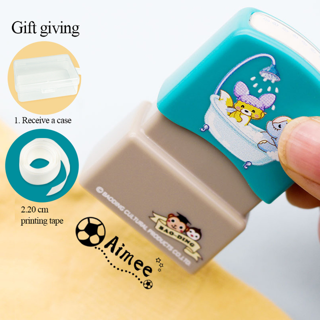 Children's Name Seal Custom Student's Name Stamp  Kindergarten Clothes Waterproof Name Sticker Will Not be Washed Off 1