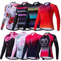 Weimostar Langarm Frauen Radfahren Jersey MTB Rennrad Jacke Pro Weibliche Fahrrad Kleidung Mujer Radfahren Hemd Maillot Ciclismo