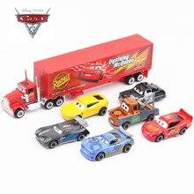 Фирменная Новинка disney Pixar машина 3 машинный гараж из 2 Lightning McQueen Джексон Storm Материал Мак дядя модель грузового автомобиля одежда на Рождество подарок
